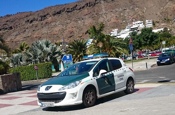 Guardia Civil-bil i Mogán. Illustrasjonsfoto: Hugo Ryvik